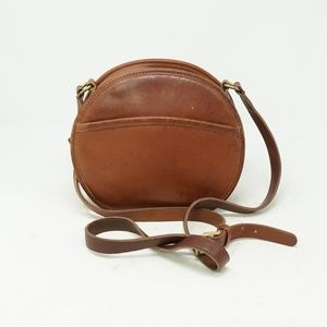 Vintage Coach Brown Crossbody Leather Clutch